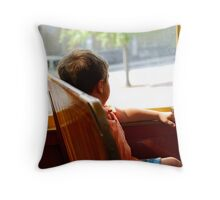 On the Trolley Throw Pillow