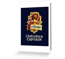 Gryffindor Quidditch Captain Greeting Card