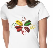 Juicy lips Womens Fitted T-Shirt