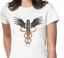 Caduceus Womens Fitted T-Shirt