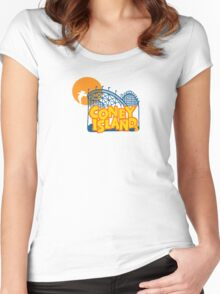 Coney Island - New York. Women's Fitted Scoop T-Shirt