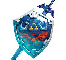 The Master Sword With the Hylian Shield by Andreas Bugge