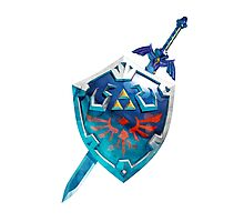 The Master Sword With the Hylian Shield Photographic Print