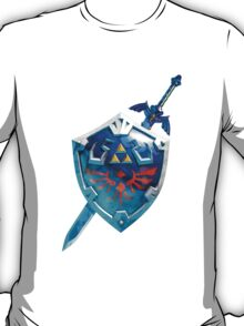 The Master Sword With the Hylian Shield T-Shirt