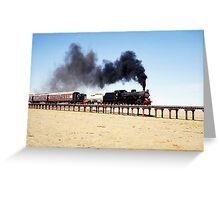 Steam train at Eurelia, South Australia Greeting Card