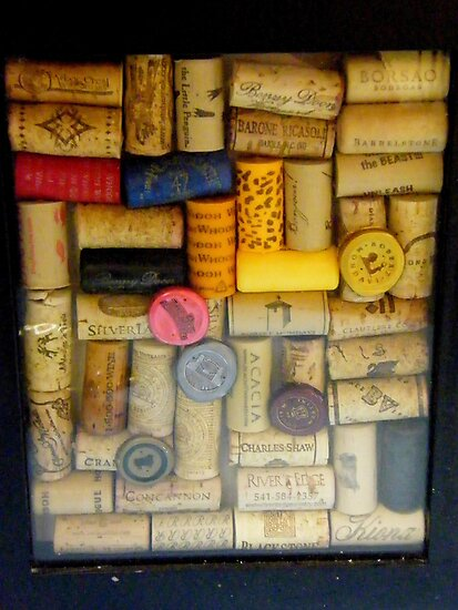 Wine bottle cork collection..... by DonnaMoore