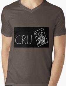 Cruel(white on black) Mens V-Neck T-Shirt