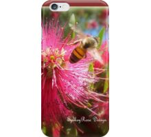 Bee and Red Bottle Brush iPhone Case/Skin