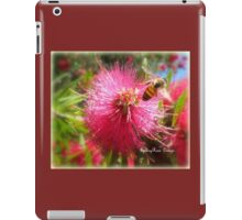 Bee and Red Bottle Brush iPad Case/Skin