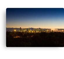 Melbourne lighting up the sky Canvas Print