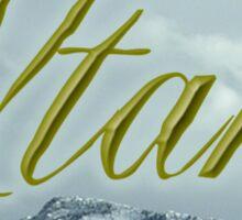 Utah Mountains Sticker