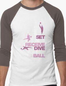 Volleyball is Life Men's Baseball ¾ T-Shirt
