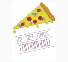 MY DIET STARTS TOMORROW - PIZZA Kids Tee