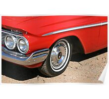 Chrome Red Poster