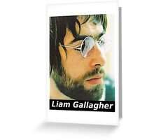 Liam Gallagher 1990s Greeting Card