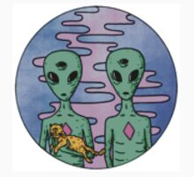 Tumblr aliens and cat by rosewelldesigns