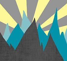Atomic art Mountains by Jan Weiss