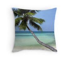 Swaying in the tropical breeze Throw Pillow