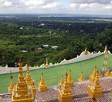 View from Sagaing Hill, Mandalay, Burma. by John Mitchell