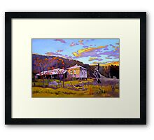 Deserted House at Payne's Crossing Framed Print