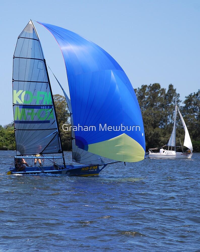 Blue boat by Graham Mewburn