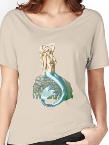 Mermaid on the Rocks Women's Relaxed Fit T-Shirt
