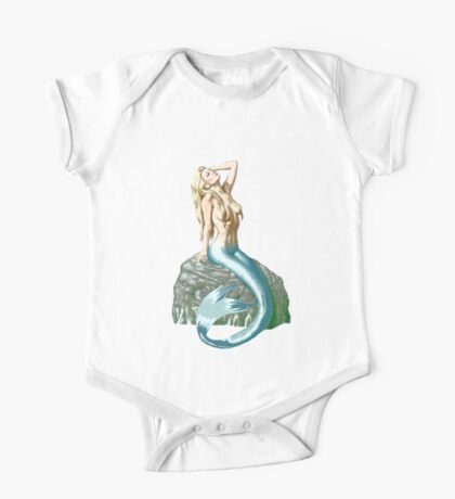 Mermaid on the Rocks One Piece - Short Sleeve