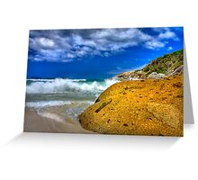 Rock on a beach Greeting Card