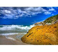 Rock on a beach Photographic Print
