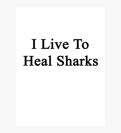 I Live To Heal Sharks  Photographic Print