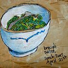 a bowl of broccoli by Evelyn Bach