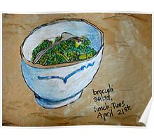 a bowl of broccoli Poster