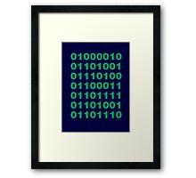 Silicon Valley / Binary Bitcoin Framed Print