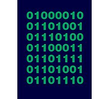 Silicon Valley / Binary Bitcoin Photographic Print