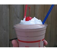 Chocolate Malt with Cherry and Whipped Cream Photographic Print