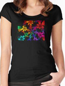 Petals Tee Women's Fitted Scoop T-Shirt