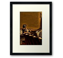 In the Present Tense (Vers 3) Framed Print