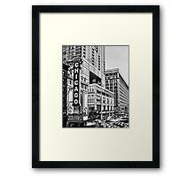 Chicago in Black and White Framed Print