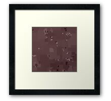 Peppercorn Square Pixel Color Accent Framed Print