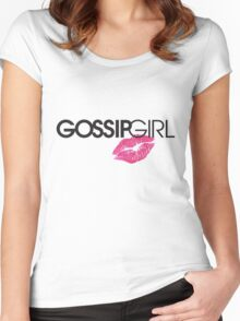 gossip girl  Women's Fitted Scoop T-Shirt