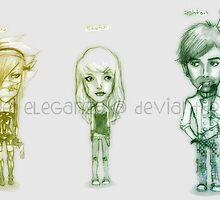 Chibi caricatures by reieleganza
