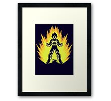 Super Power Up Framed Print