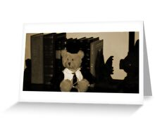 Teddy the Professor Greeting Card