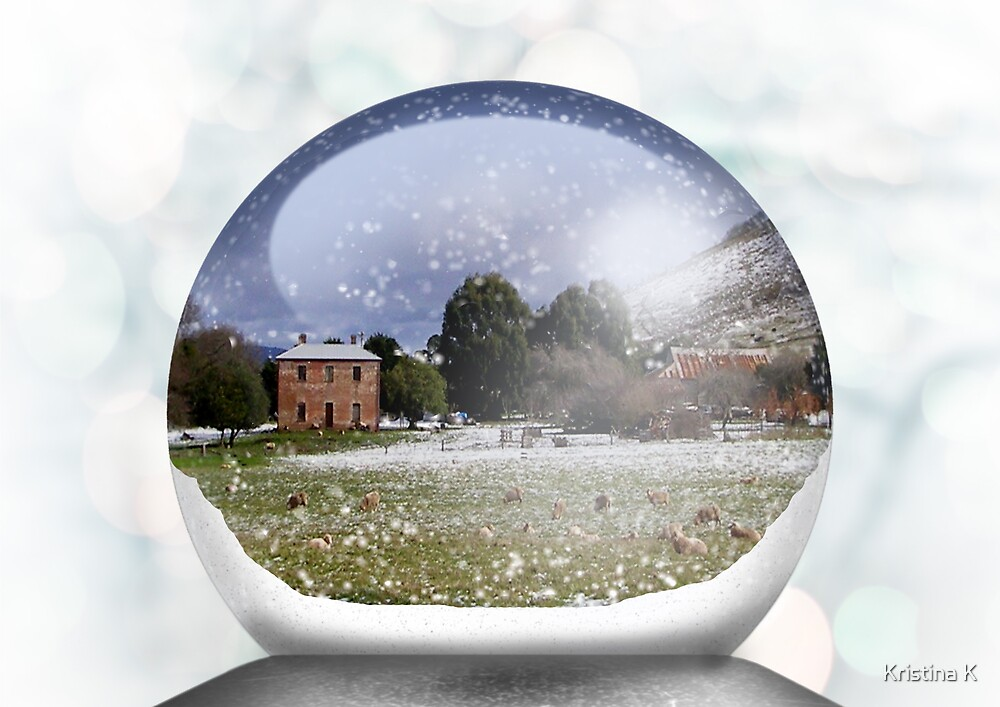House Snow Globe by Kristina K