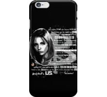 Buffy speech iPhone Case/Skin