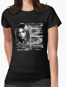 Buffy speech Womens Fitted T-Shirt
