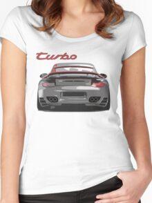 Porsche 997 Turbo Women's Fitted Scoop T-Shirt