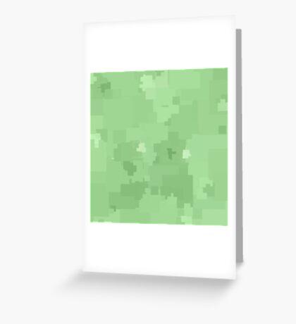 Pistachio Square Pixel Color Accent Greeting Card