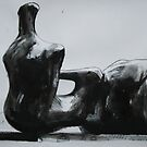 Study From Henry Moores-Relining Figure Hand 1979 by Josh Bowe