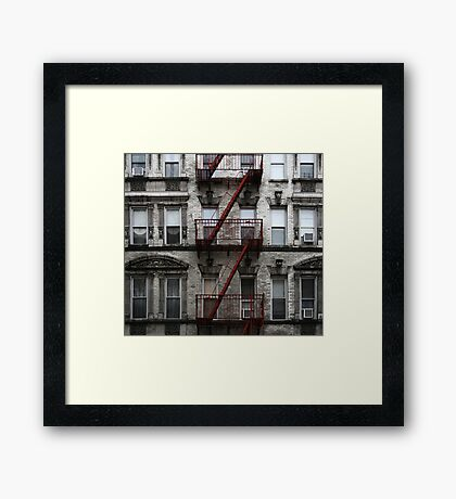 Red Fire Escape, Cast Iron District, New York City Framed Print
